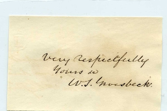 Groesbeck, William S. autograph