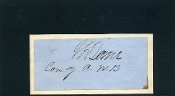 Lane, James war time autograph