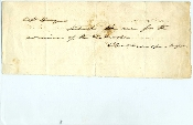 Devens, Charles war time autographed note