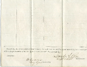 Grose, William  war date autographed document