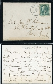 Burnside, Ambrose autographed letter and cover