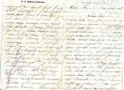 "7th Rhode Island Infantry soldier's letter/ ""Crater Affair"""
