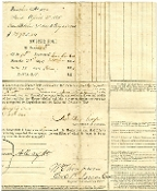 1st Iowa Cav. Muster Roll signed by BBG Wm. Thompson