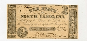 CSA North Carolina $2 Note, 1861, XF