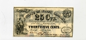 CSA North Carolina 25 c 1863 Note, UNC