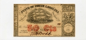 CSA North Carolina 50 c Note, 1864.  UNC