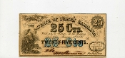 CSA North Carolina 25 c Note, 1864,  CU