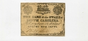 CSA South Carolina 25 c Note, Fort Sumter, F-VF