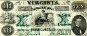 CSA Virginia $10 Note, CU, Watermark