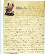 1st Indiana Cavalry soldier's letter/ Black River, MO