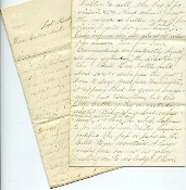 4th New York Heavy Artillery soldier's letter/ Fort Marcy