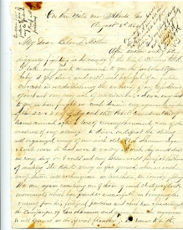 76th Ohio Infantry soldier's letter/ Atlanta Campaign