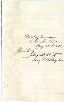 Kautz, August autograph during Lincoln's Assassination Trial