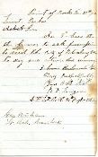 50th North Carolina Infantry soldier's letter/ Petersburg