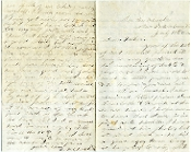 18th MA soldier's letter plus battlefield picked up CSA letter