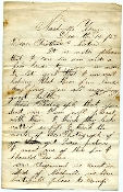"102nd Ohio Infantry soldier's letter/ Killed ""Sultana"" explosion"