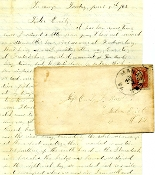 67th Ohio Infantry soldier's letter/ Jackson's Valley Campaign