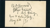 Howard, Oliver O. autograph, MOH