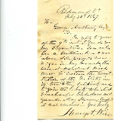 Wise, Henry autograph letter signed