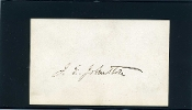 Johnston, Joseph autograph