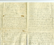 2nd Vermont Infantry soldier's letter/ Battle of Locust Hill, WV