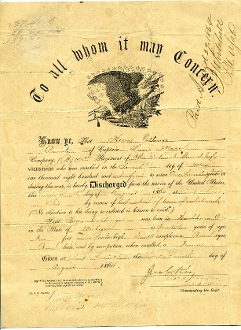 145th Ohio Infantry Eagle Discharge/ Camp Chase,OH