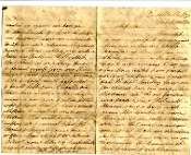 26th Tennessee Infantry soldier's letter/ Russellville, KY