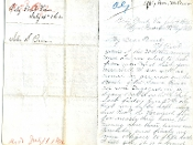 32nd New York Infantry soldier's letter/ Battle of Gaines Mill