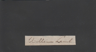 Lamb, William autograph/ Commander Fort Fisher