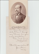 Garfield, James autographed letter as President-elect