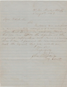 5th Virginia Battalion soldier's letter/ Hardy's Bluff, VA