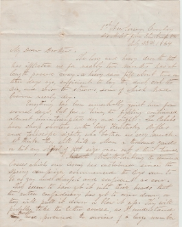 1st New Jersey Cavalry soldier's letter/ Petersburg campaign