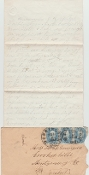 175th Pennsylvania Infantry soldier's letter/ Harewood Hospital