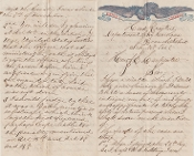 24th Massachusetts Infantry soldier's letter/ Roanoke Island, NC