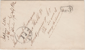 New Bern, NC, Due 3 on cover from 175th PA Infantry soldier