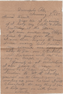 CSA 2nd Missouri Infantry soldier's letter/ WIA Franklin
