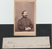 Sedgewick, John wartime autograph with Brady CDV