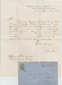 Myers, Abraham wardate autograph letter signed with cover