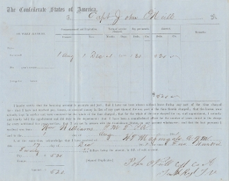 10th Tennessee Infantry document