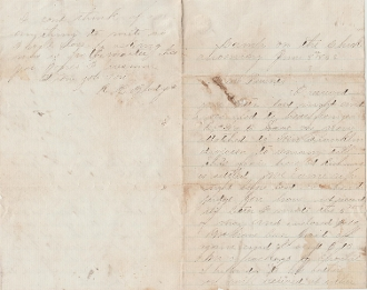 1st US Berdan's  SharpShooters soldiers' letter