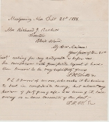 Watts, Thomas autographed letter