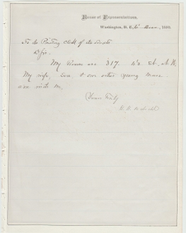 Dibrell, George autographed letter