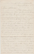143rd Illinois Infantry soldier's letter/ Helena, Arkansas
