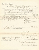 Sherman, William T. wardate autograph document
