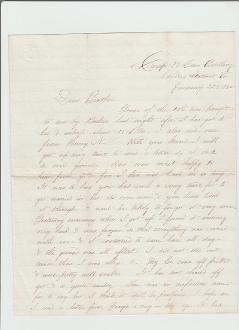 2nd Connecticut Heavy Artillery Soldier's Letter / Virginia