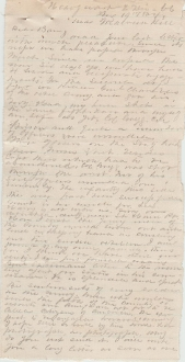 6th Pennsylvania Cavalry letter/ Killing of CSA Genl. Chambliss