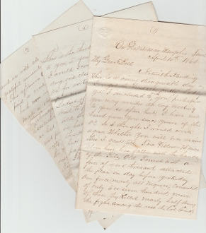 95th Ohio Infantry soldier's letter/ Battle of Fort Pillow