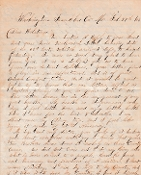 23rd Missouri Infantry soldier's letter/ Washington, MO