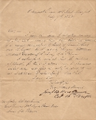 16th New York Infantry letter by the Col. Joseph Howland