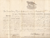 Washburn, C.C. war date document signed/ 2nd Wisconsin Cavalry